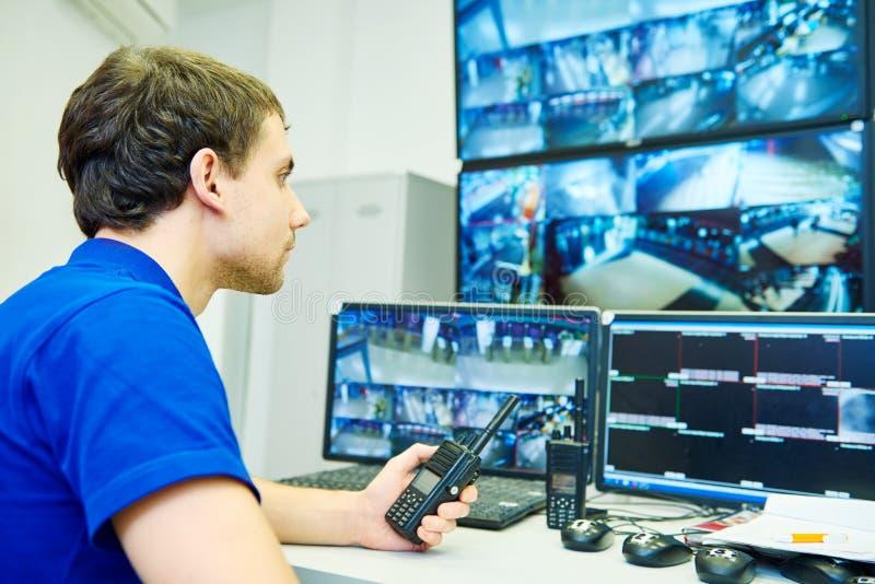 Sistema de segurança video da fiscalização da monitoração imagem de stock