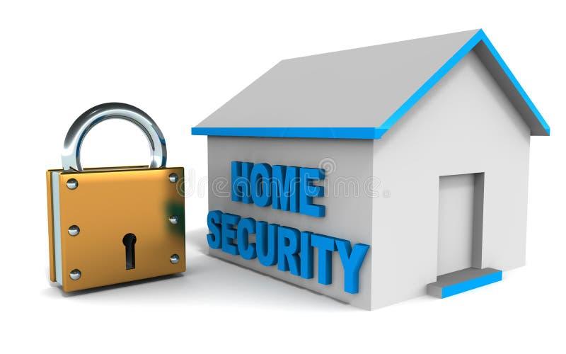 Sistema de seguridad en el hogar ilustración del vector