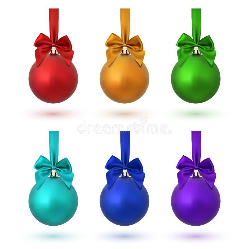 Sistema de seis bolas coloridas de la Navidad libre illustration