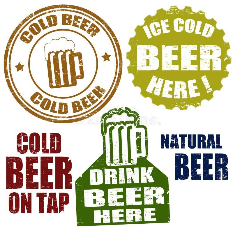 Sellos de la cerveza fría libre illustration