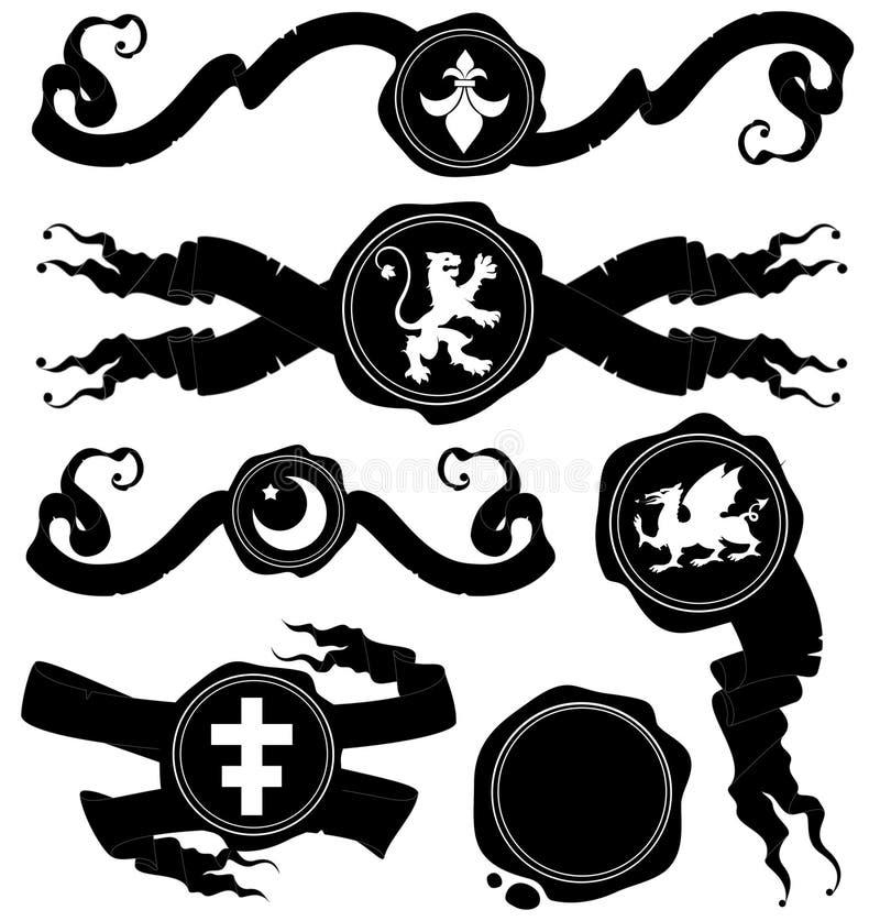 Sistema de sellos de la cera libre illustration