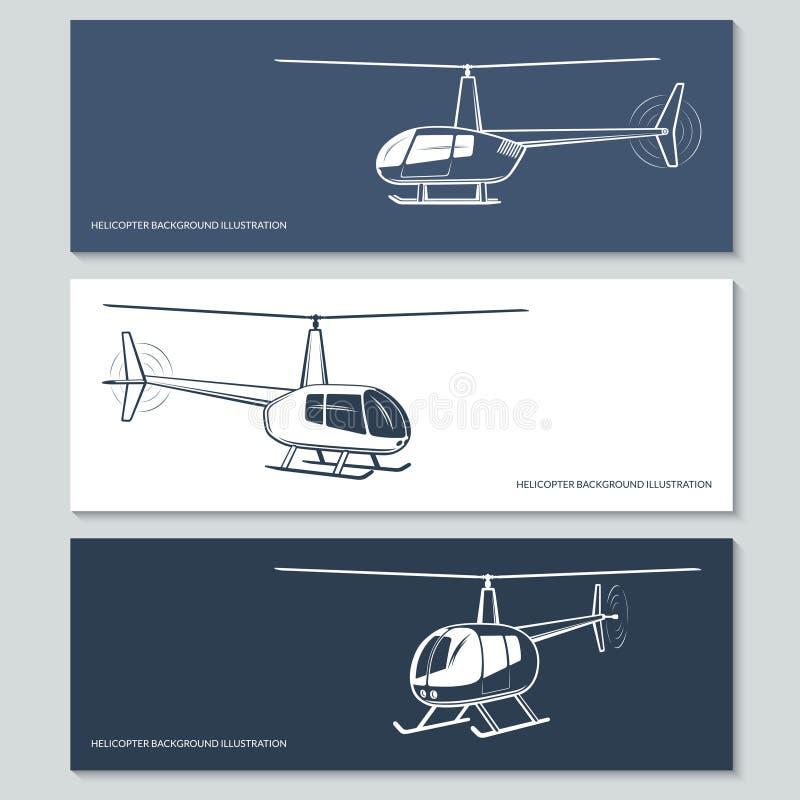 Sistema de siluetas del helicóptero libre illustration
