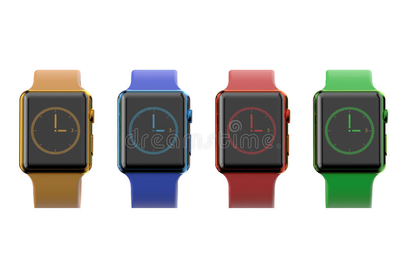 Sistema de smartwatch moderno multicolor libre illustration