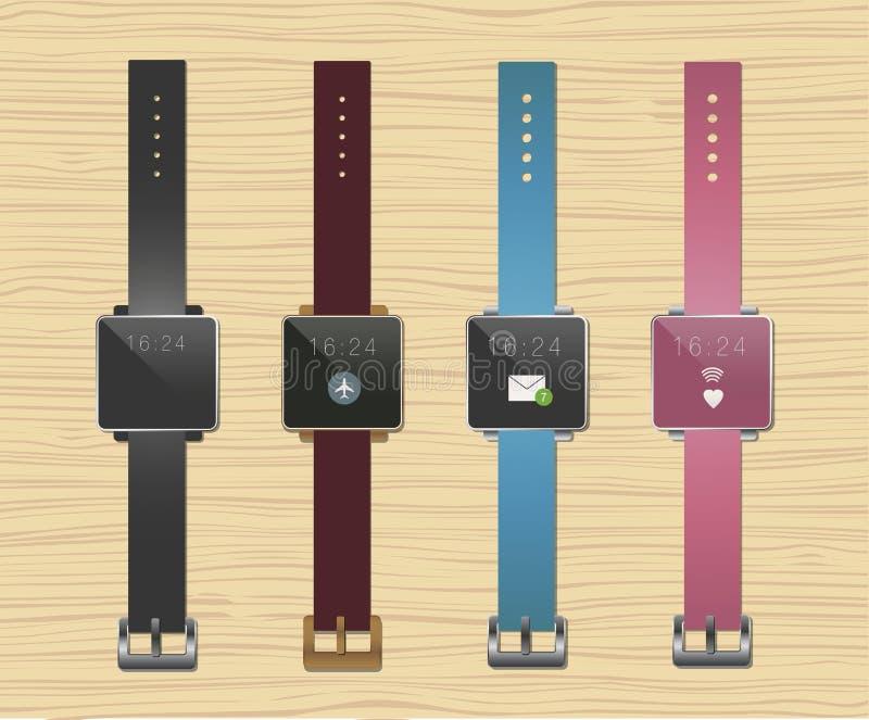Sistema de Smartwatches ilustración del vector