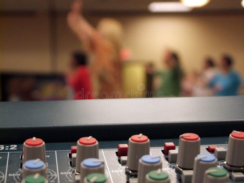 Sistema de sonidos de la adoración de la iglesia foto de archivo libre de regalías