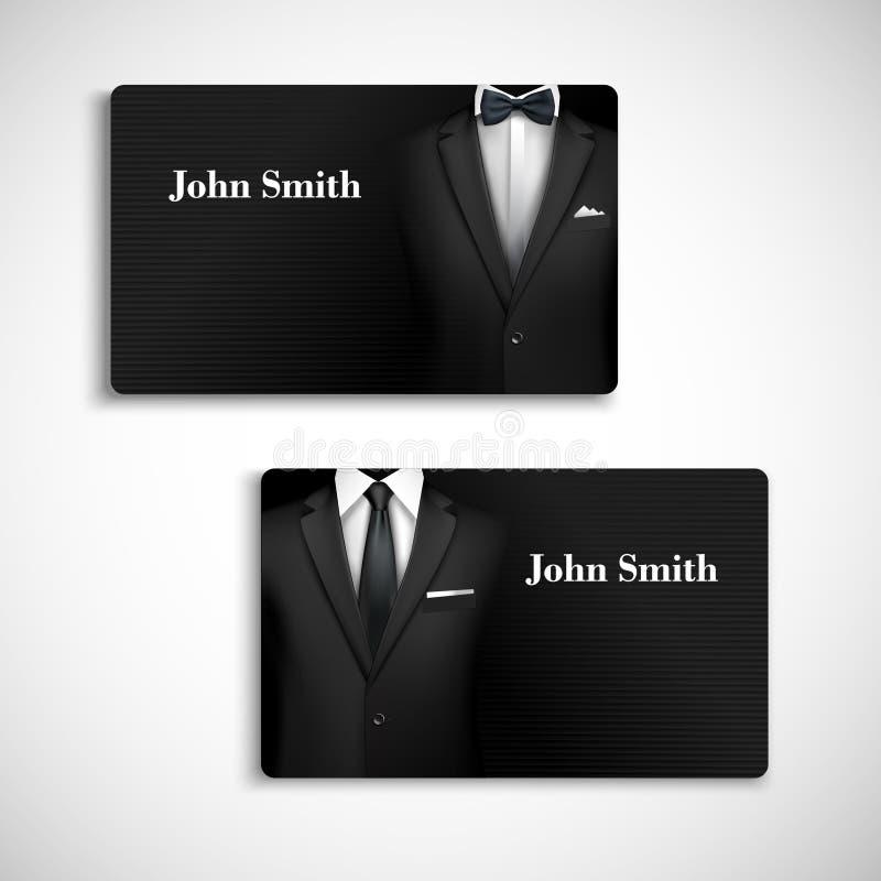 Sistema de tarjeta del traje del hombre de negocios libre illustration