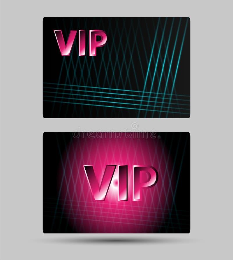 Sistema de tarjetas abstractas de los miembros del Vip solamente stock de ilustración