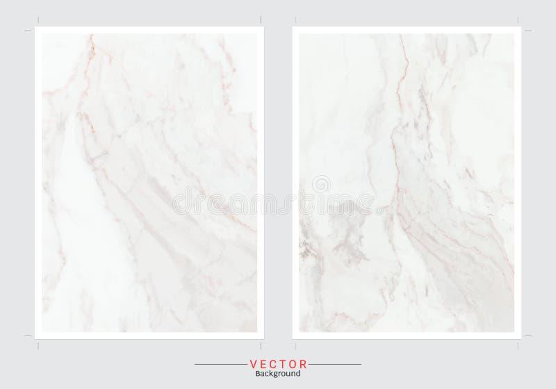 Sistema de tarjetas con texturas de mármol apacibles stock de ilustración