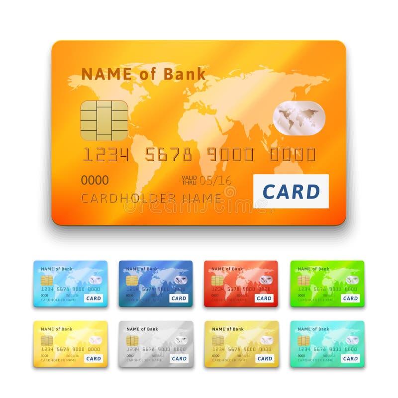 Sistema de tarjetas de crédito brillantes detalladas libre illustration