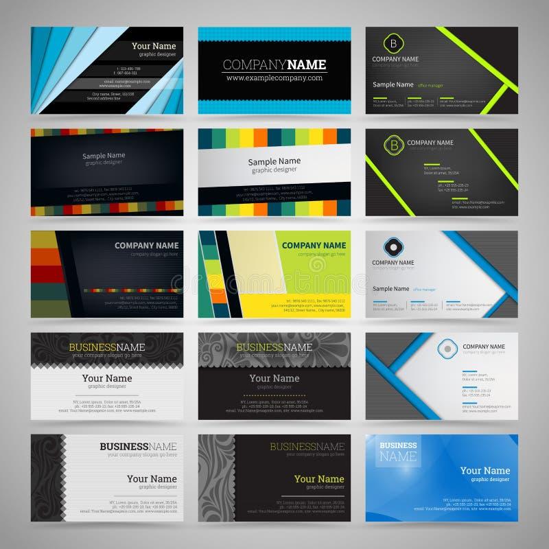 Sistema de tarjetas de visita libre illustration