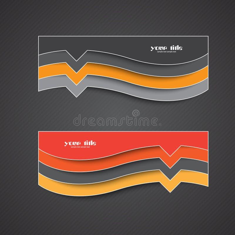 Sistema de tarjetas en fondo oscuro stock de ilustración