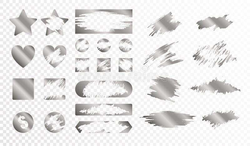 Sistema de tarjetas de rascar ilustración del vector