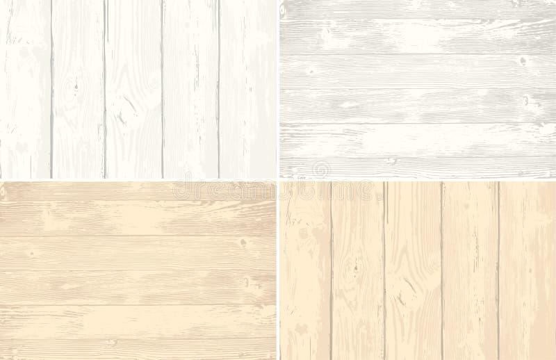 Sistema de textura de madera de la capa de los tablones para su diseño Fondo elegante lamentable Fácil corregir el contexto de ma libre illustration