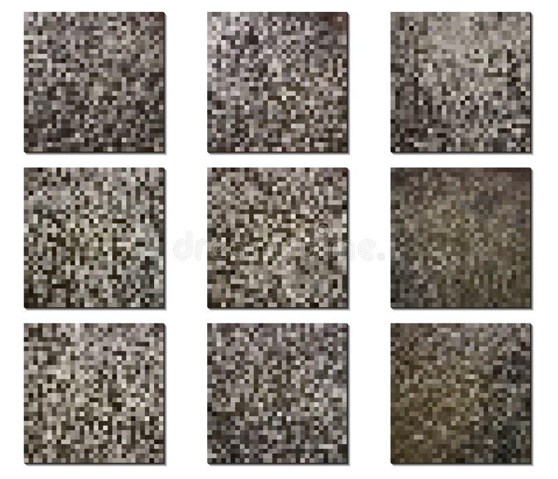 Sistema de texturas del vector Modelos oscuros para la decoración ilustración del vector