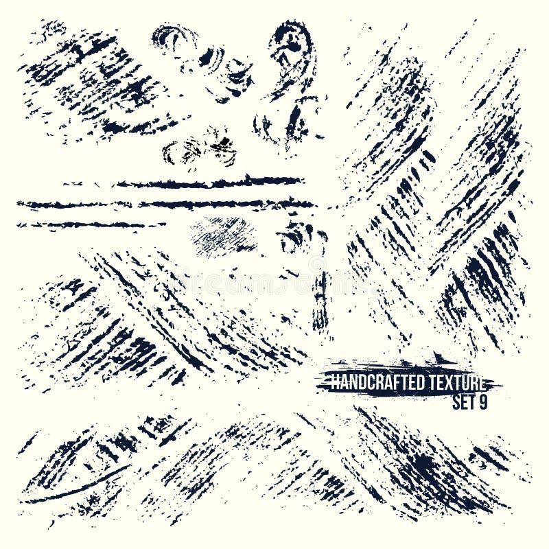 Sistema de texturas handcrafted ilustración del vector