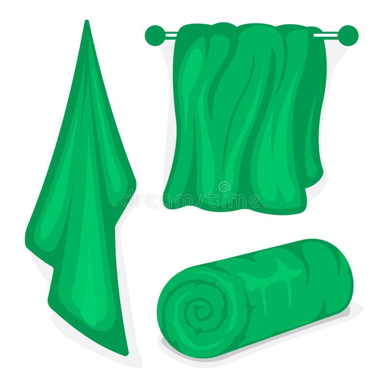 Sistema de toallas de baño libre illustration