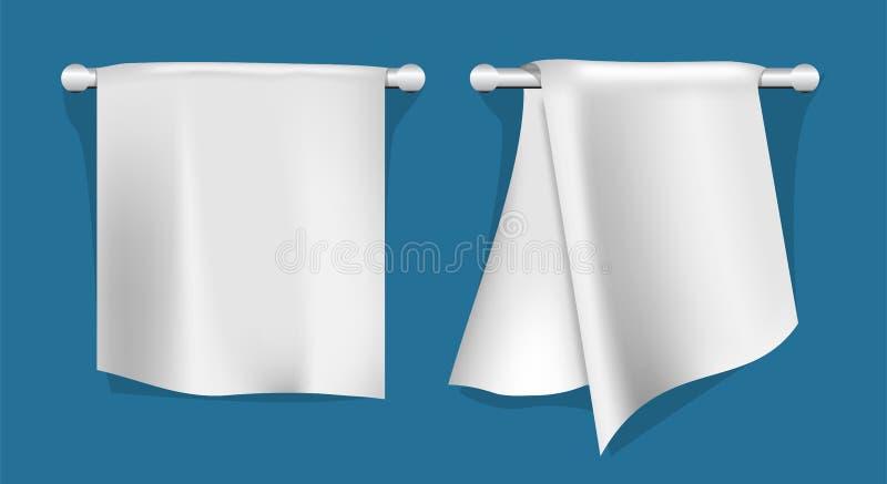 Sistema de toallas de cocina ilustración del vector