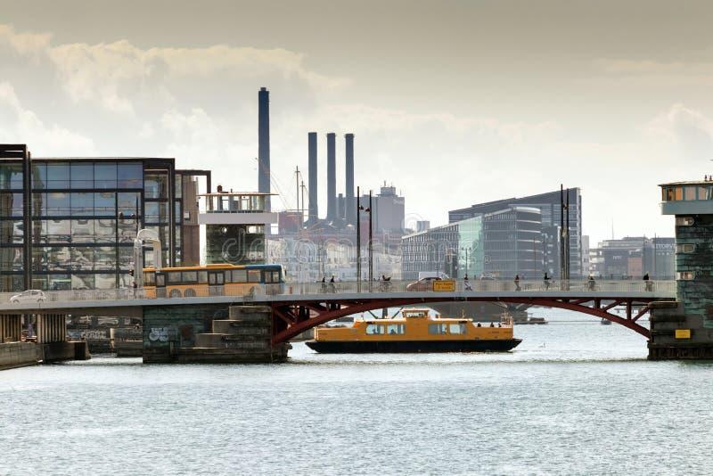 Sistema de transporte de Copenhaga foto de stock royalty free