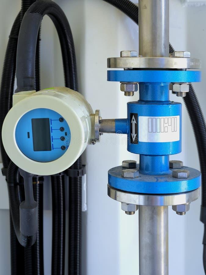 Sistema de tratamiento de aguas residuales del sitio imagen de archivo