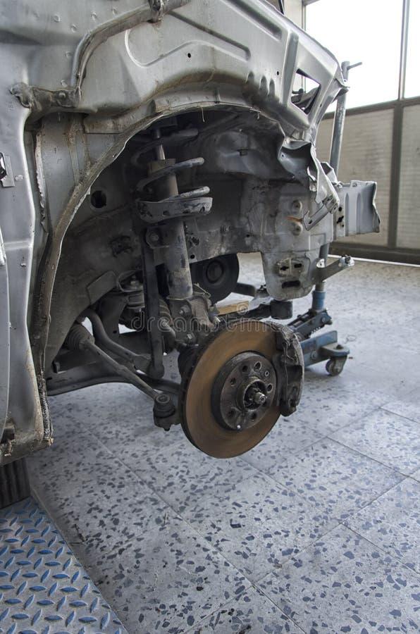 Sistema de travagem de um carro deixado de funcionar imagem de stock