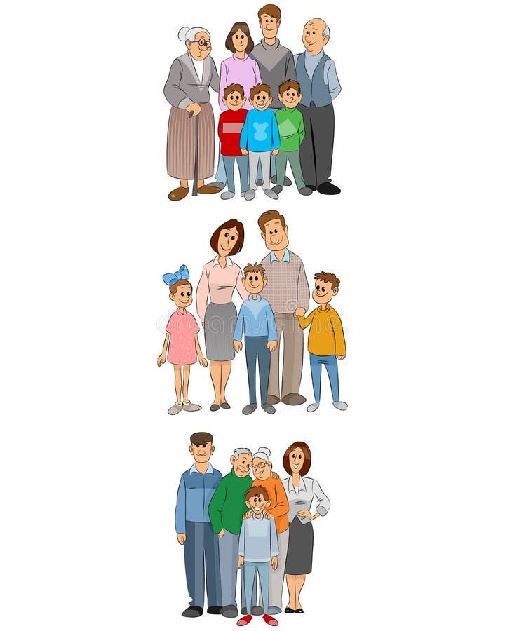 Sistema de tres familias libre illustration