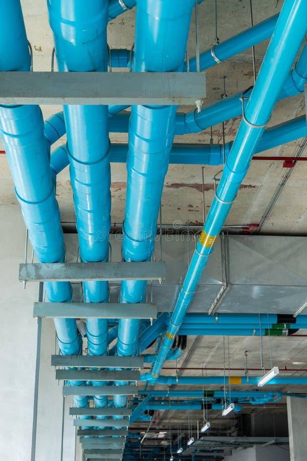 Sistema de tubería debajo del piso fotografía de archivo