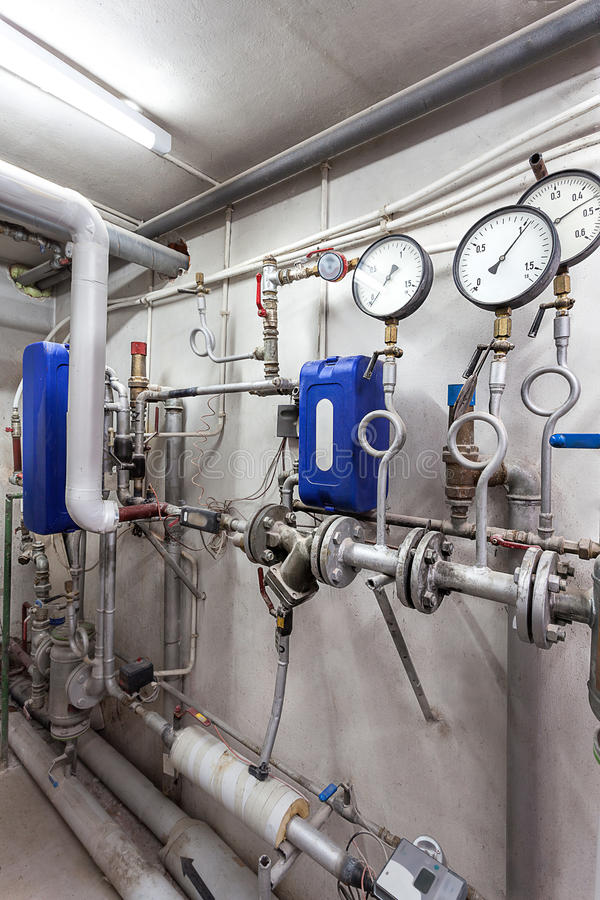 Sistema de tubos de calefacción imagen de archivo libre de regalías