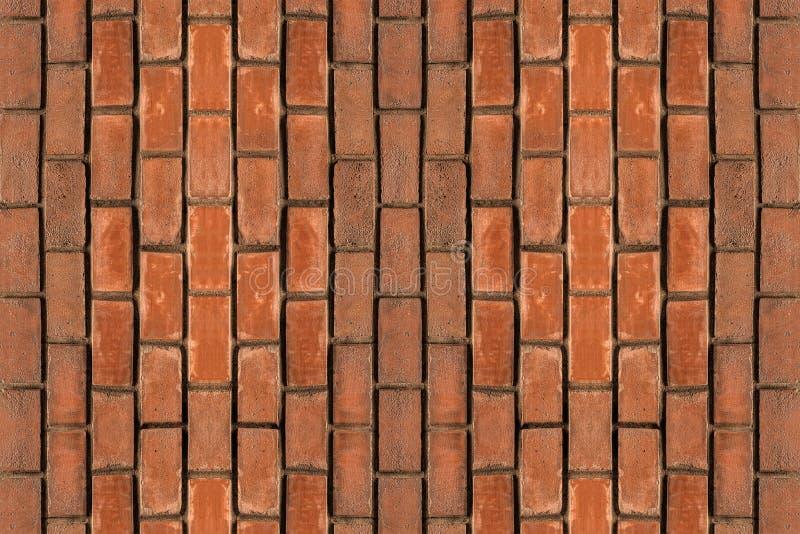 Sistema de vagos verticales doblados de la lona de los ladrillos rectangulares marrones de los bloques fotografía de archivo libre de regalías