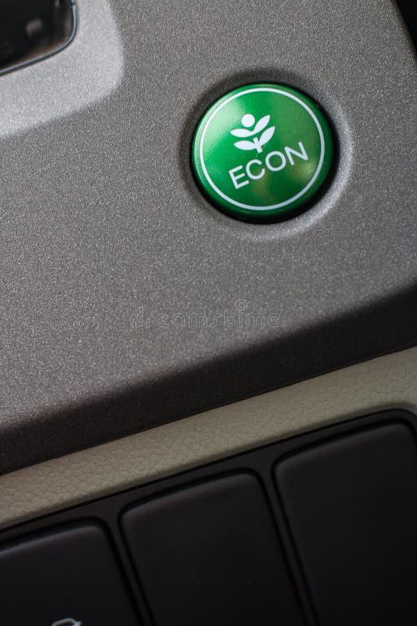 Sistema de ventilação do carro com botões do severl e detalhes de moderno fotos de stock