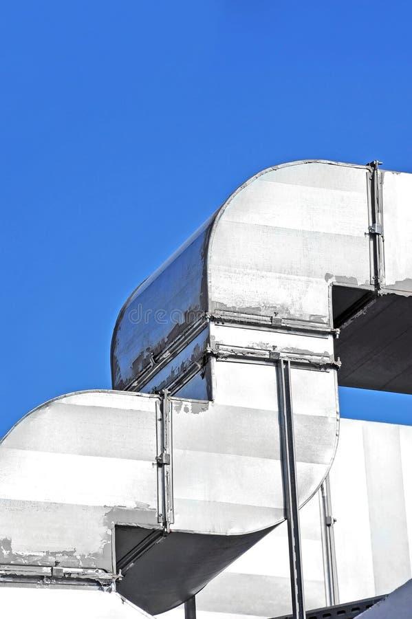 Sistema de ventilación industrial fotografía de archivo