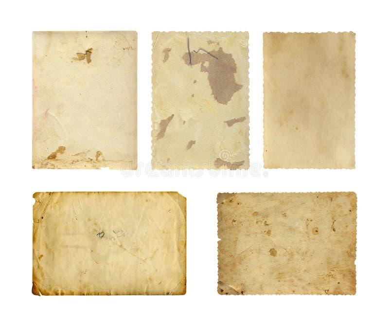 Sistema de vieja textura del papel de la foto imagen de archivo libre de regalías