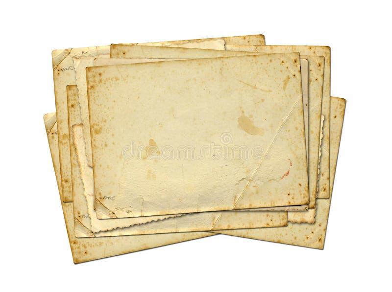 Sistema de vieja textura del papel de la foto foto de archivo libre de regalías