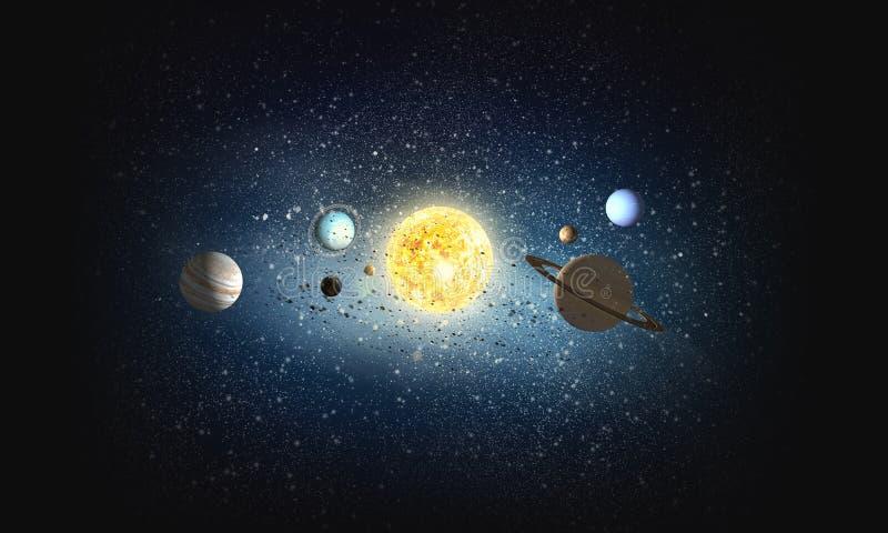 Sistema dei pianeti Media misti immagini stock libere da diritti