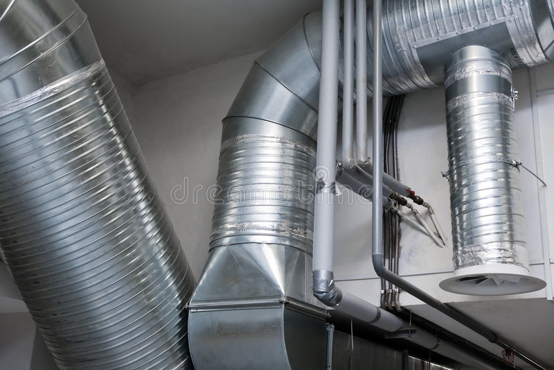 Sistema dei tubi di ventilazione fotografia stock libera da diritti