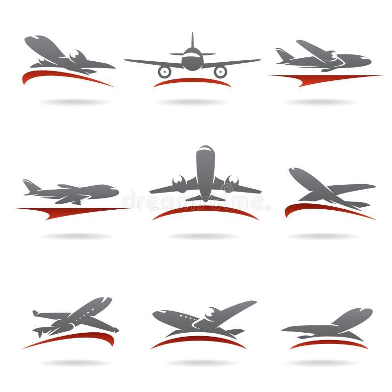 Sistema del aeroplano. Vector stock de ilustración