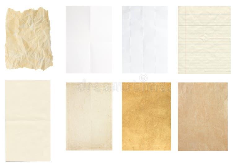 Sistema del aislante de la textura del papel del vintage, fotografía de archivo libre de regalías
