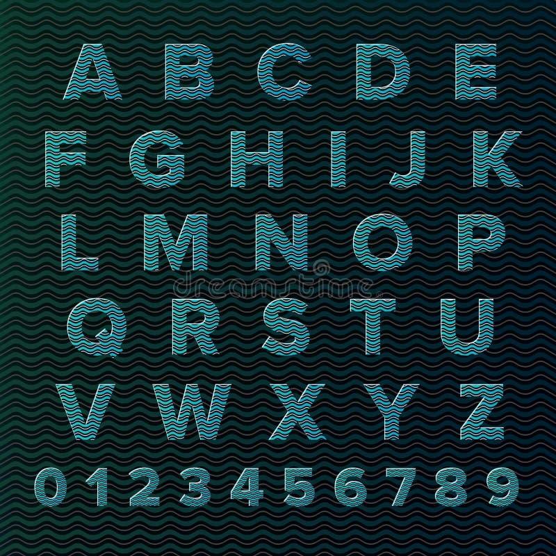 Sistema del alfabeto del vector libre illustration