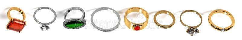 Sistema del anillo ilustración del vector