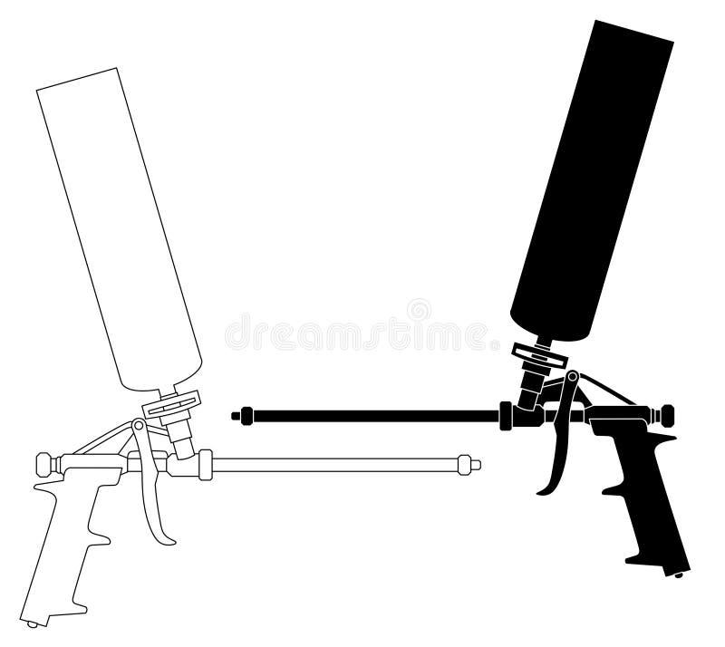 Sistema del arma de la espuma ilustración del vector