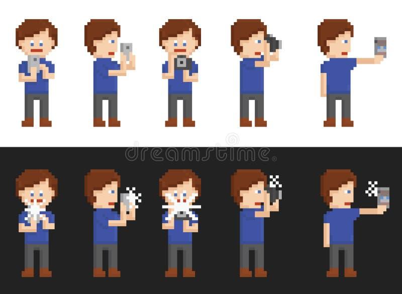 Download Sistema Del Arte Del Pixel De La Persona Que Hace Imágenes Ilustración del Vector - Ilustración de pixel, profesional: 44853357