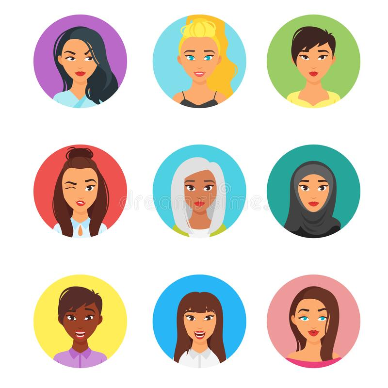 Sistema del avatar de la gente libre illustration