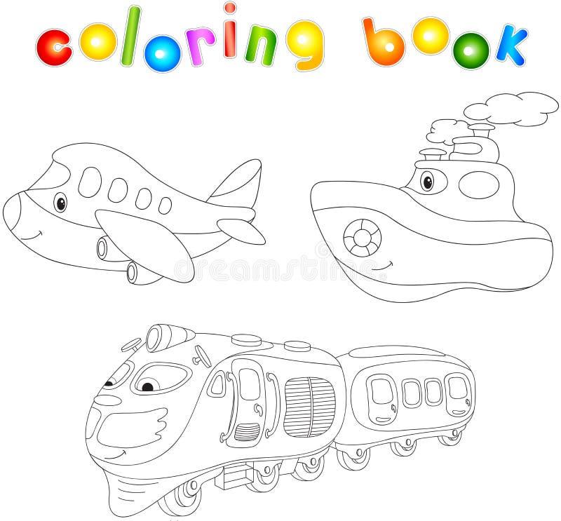 Sistema Del Avión, De La Nave Y Del Tren Libro De Colorear Para Los ...