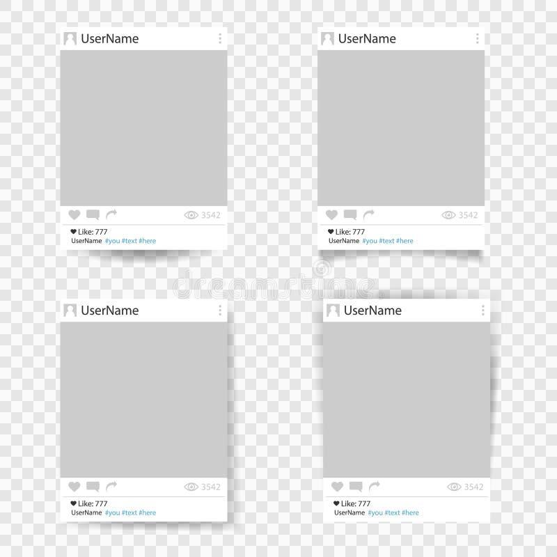 Sistema del bastidor de la foto de la plantilla del vector libre illustration