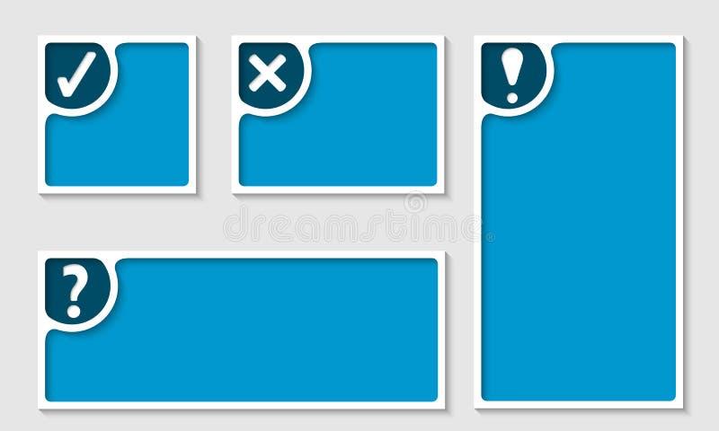Sistema del bastidor de texto cuatro ilustración del vector