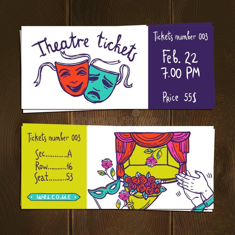 Sistema del boleto de teatro libre illustration
