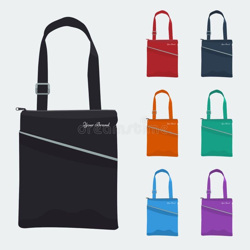 Sistema del bolso detallado con color plano de la cremallera y del bolsillo Regalo del promo libre illustration