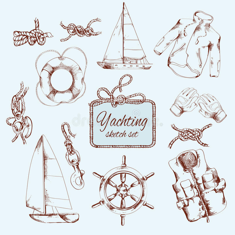 Sistema del bosquejo que navega libre illustration