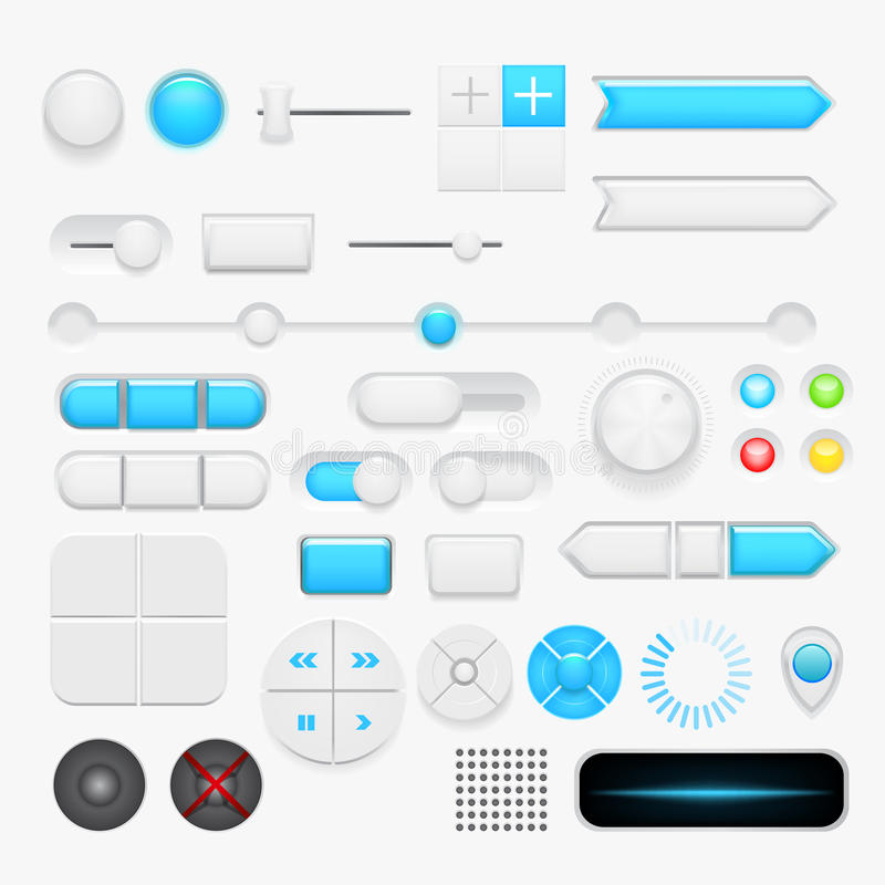 Sistema del botón. Vector ilustración del vector