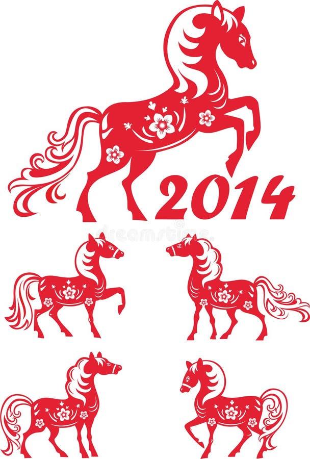 Sistema del caballo. ilustración del vector
