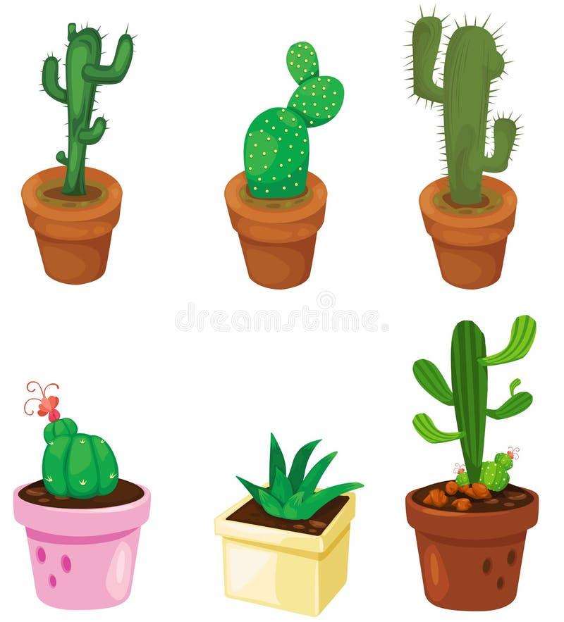 Sistema del cactus ilustración del vector